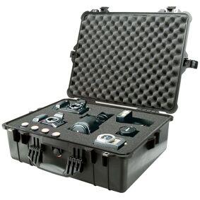 Pelicase 1600 Med Skum, Sort Vanntett Og Uknuselig Utstyrskoffert
