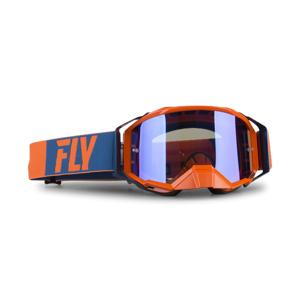 FLY Racing Crossbriller Fly Zone Pro Oransje-Blå