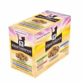 Hill's Ideal Balance Feline Adult Multipack Pouch (12x85g)