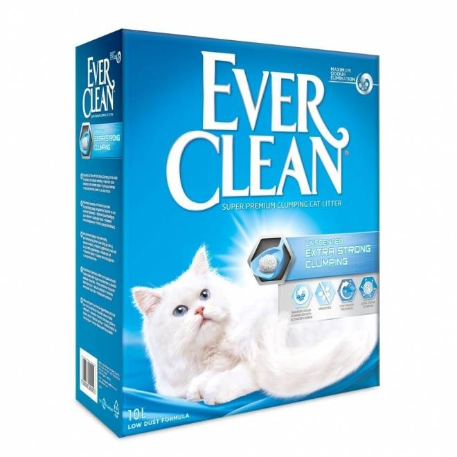 Ever Clean EverClean Xtra Strong Unscented Kattesand (6 l)