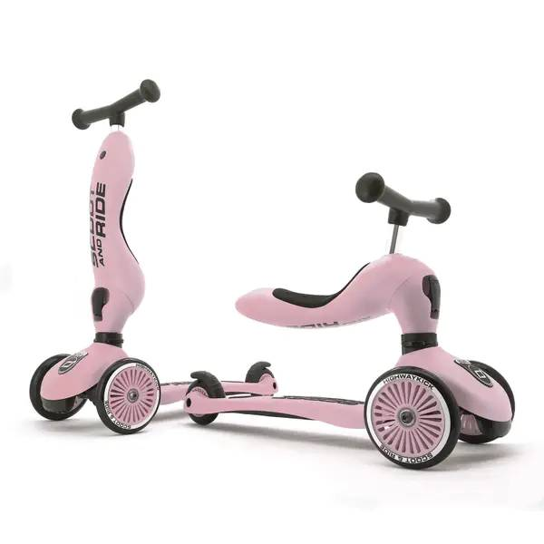 Scoot And Ride 2 I 1 Sparkesykkel, Rose