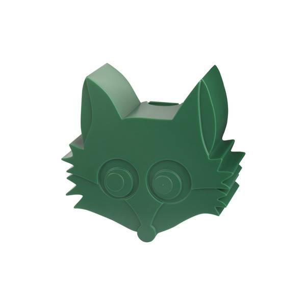 Blafre Minimatboks Med Revemotiv, Mørk Grønn