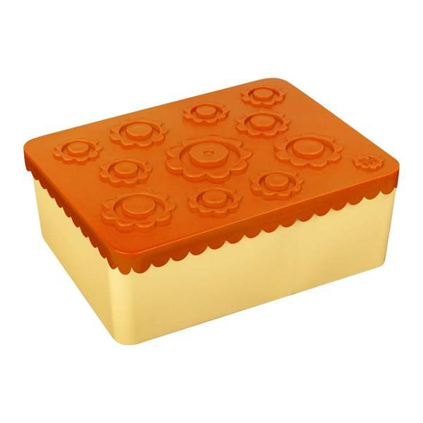 Blafre Treroms Matboks I Plast Med Blomster, Orange