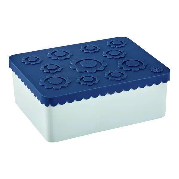 Blafre Treroms Matboks I Plast Med Blomster, Blå