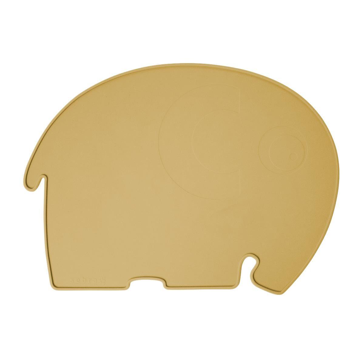 Sebra elefant spisebrikke til barn, savannah yellow