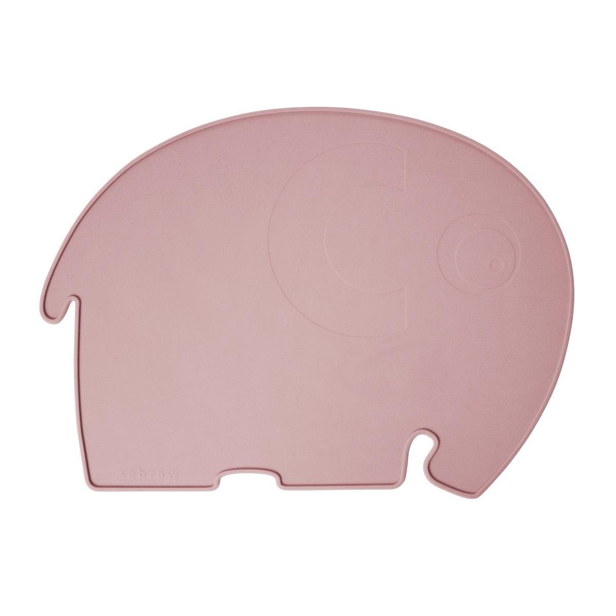 Sebra elefant spisebrikke til barn, blossom pink