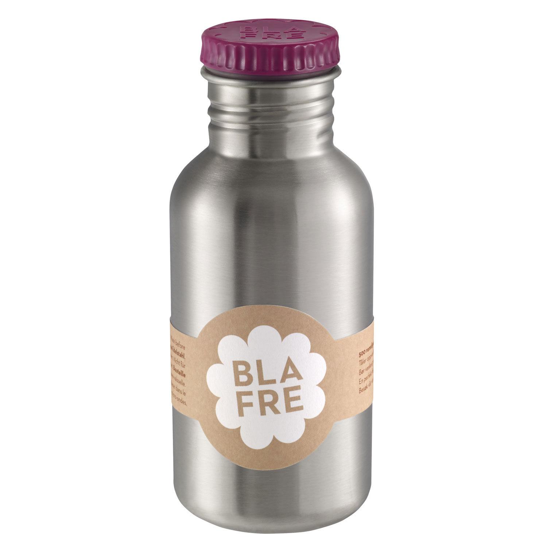 Blafre stålflaske til barn 500 ml. plommerød