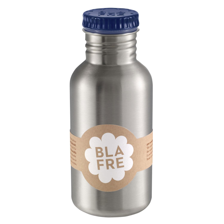 Blafre stålflaske til barn 500 ml. marineblå
