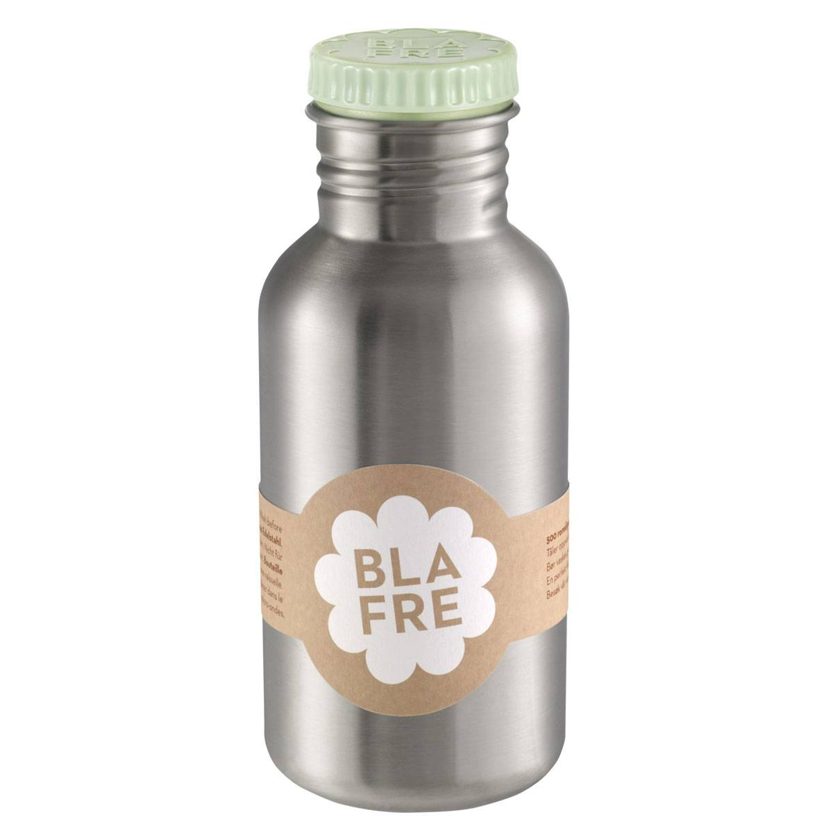 Blafre stålflaske til barn 500 ml. mintgrønn
