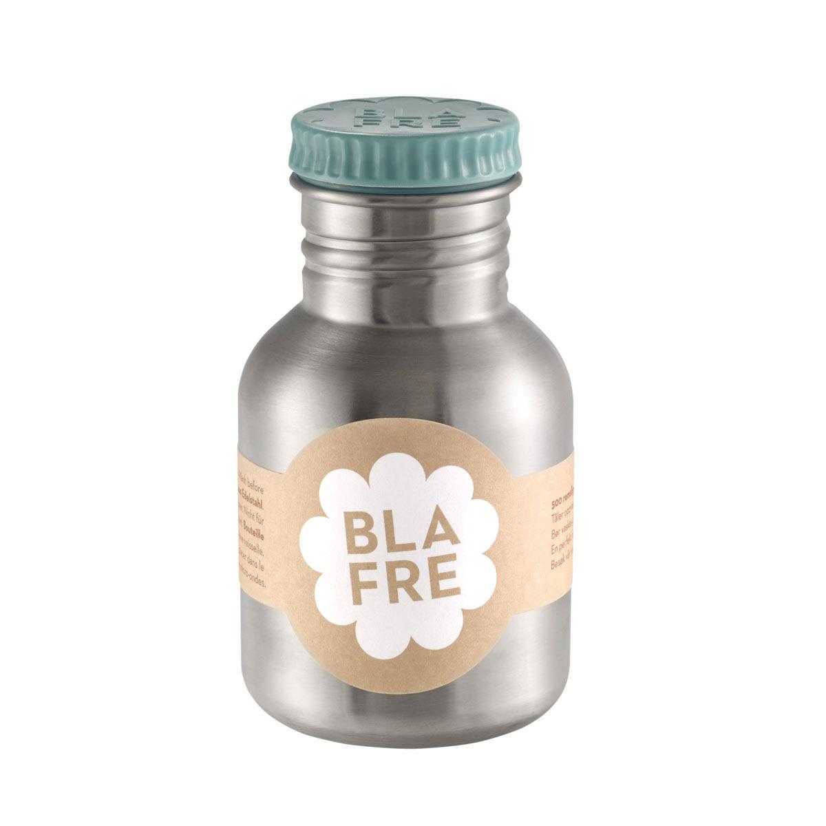 Blafre stålflaske til barn 300 ml. blågrønn
