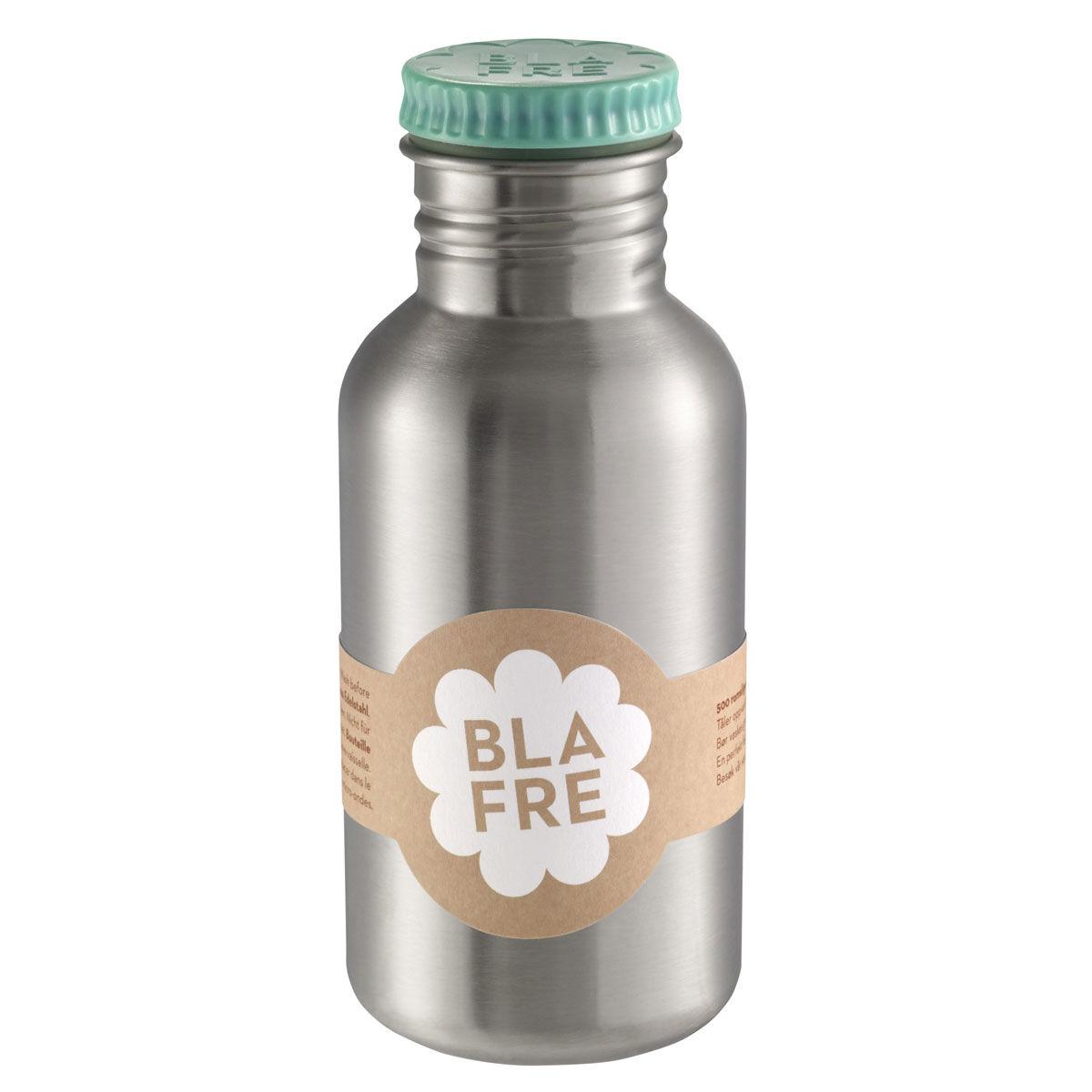 Blafre stålflaske til barn 500 ml. blågrønn