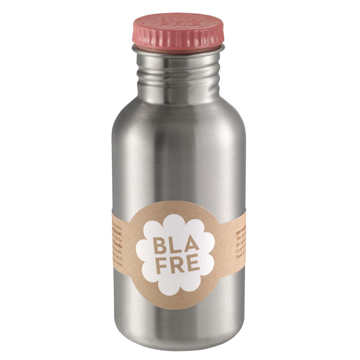 Blafre stålflaske til barn 500 ml. rosa