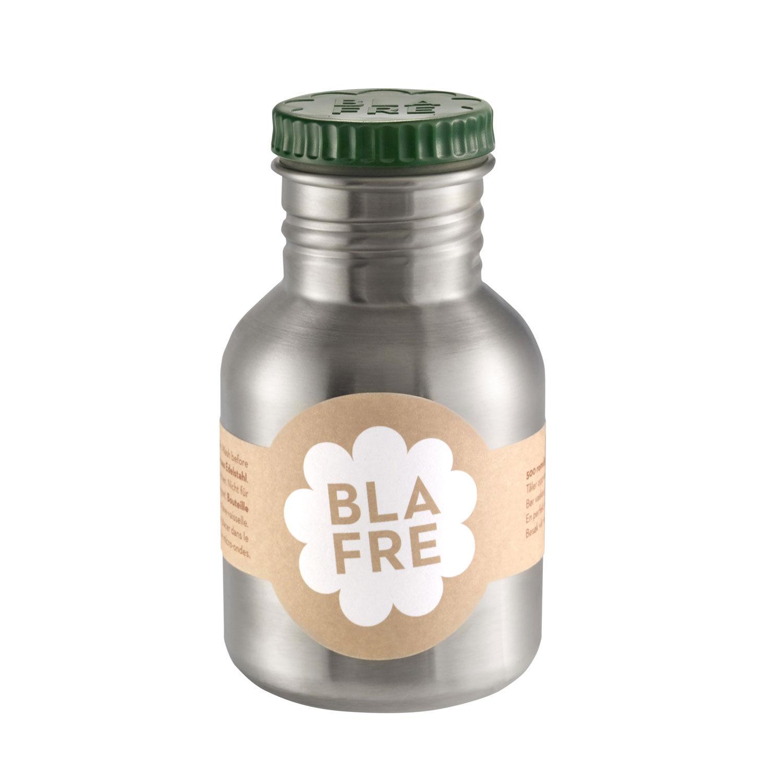 Blafre stålflaske til barn 300 ml. mørk grønn