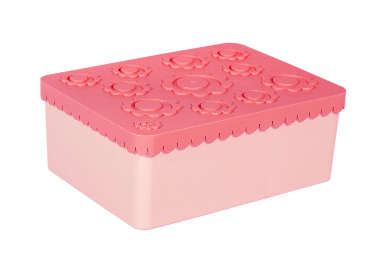 Blafre tre roms matboks i plast med blomster, rosa