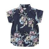 """En Fant """"Hawaii"""" skjorte til barn med korte armer, blå"""