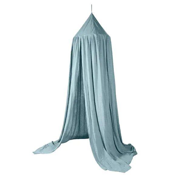 Sebra Sengehimmel Til Barnerom, Eucalyptus Blue