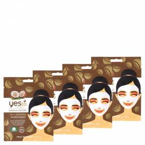 yes to Coconut Ultra Hydrating Paper Single Use Mask (Pack of 4)