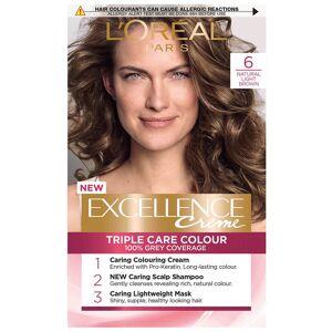 L'Oréal Paris Excellence Crème Permanent Hair Dye (Various Shades) - 6 Natural Light Brown