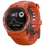 Garmin Instinct, Flame Red GPS klokke for den aktive friluftsentusiast