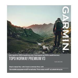 Garmin Topo Premium 8 v3 - Nordland nord 1:20 000 Micro SD med Topografisk kart for Garmin GPS