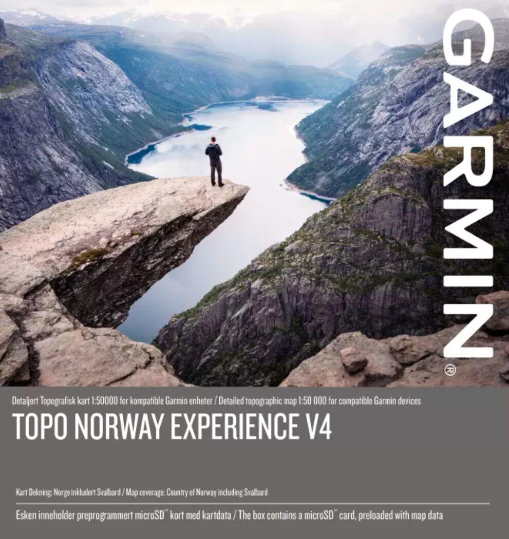 Garmin Topo Experience Pro v4 Norway, Topo 1:50 000 Micro SD/SD med Topografisk kart for Garmin GPS