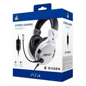 BigBen Interactive PS4/PS5 Gaming Headset V3 - White - Hodesett - Sony Playstation 4