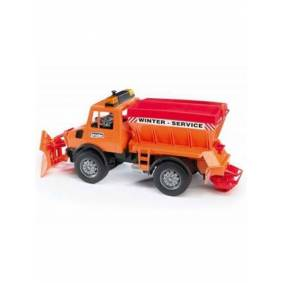 Bruder MB Unimog winter service with snow plough