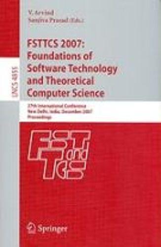 Fsttcs 2007: Foundations Of Soft...