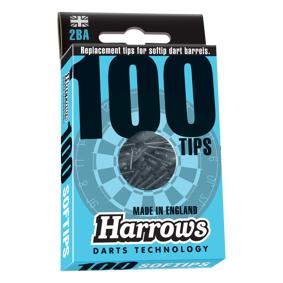 Harrows Soft Tips 2BA 100-pk STD BLACK