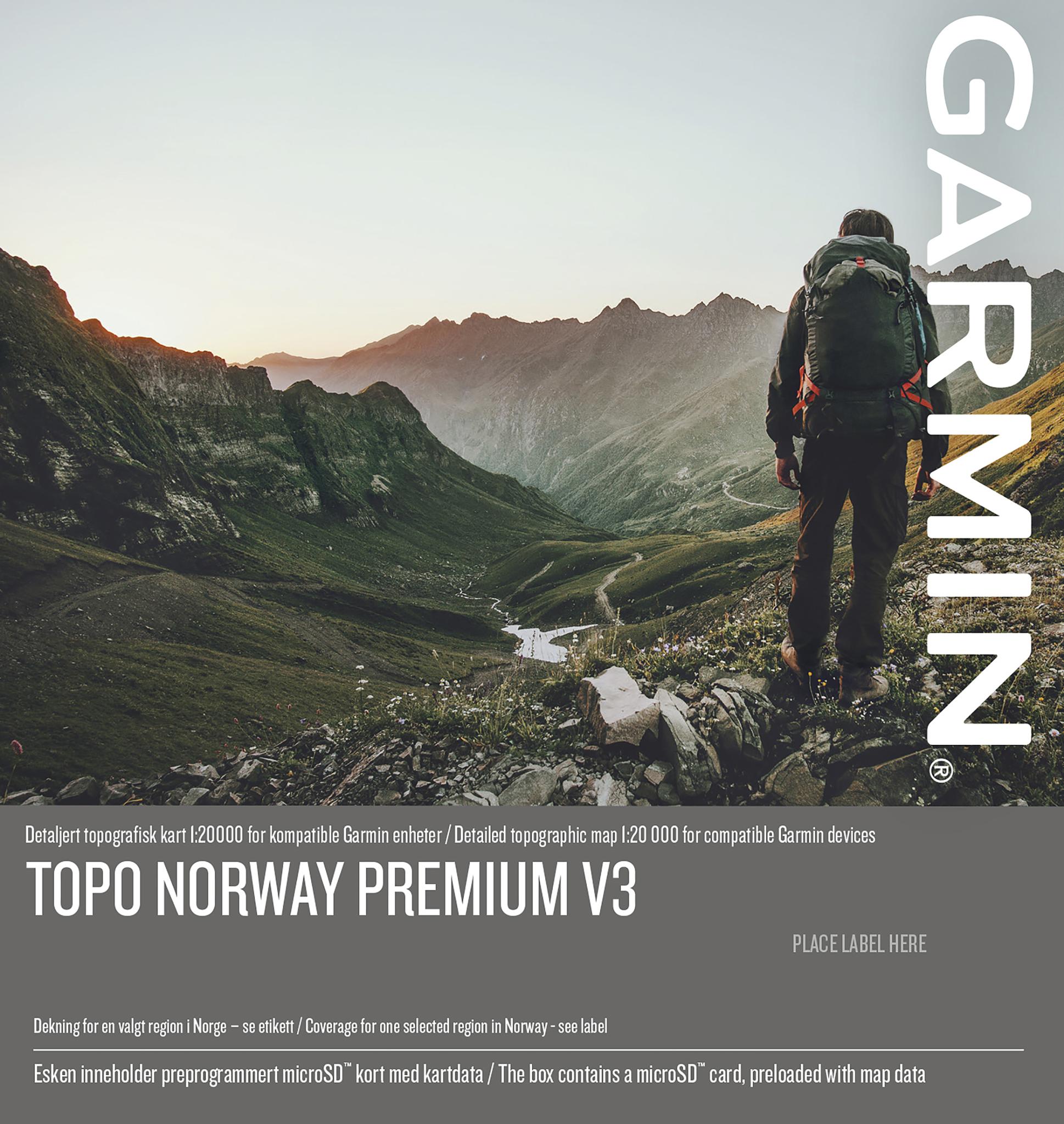 Garmin Topo Premium V3, 8-NordlandNord, kart for GPS
