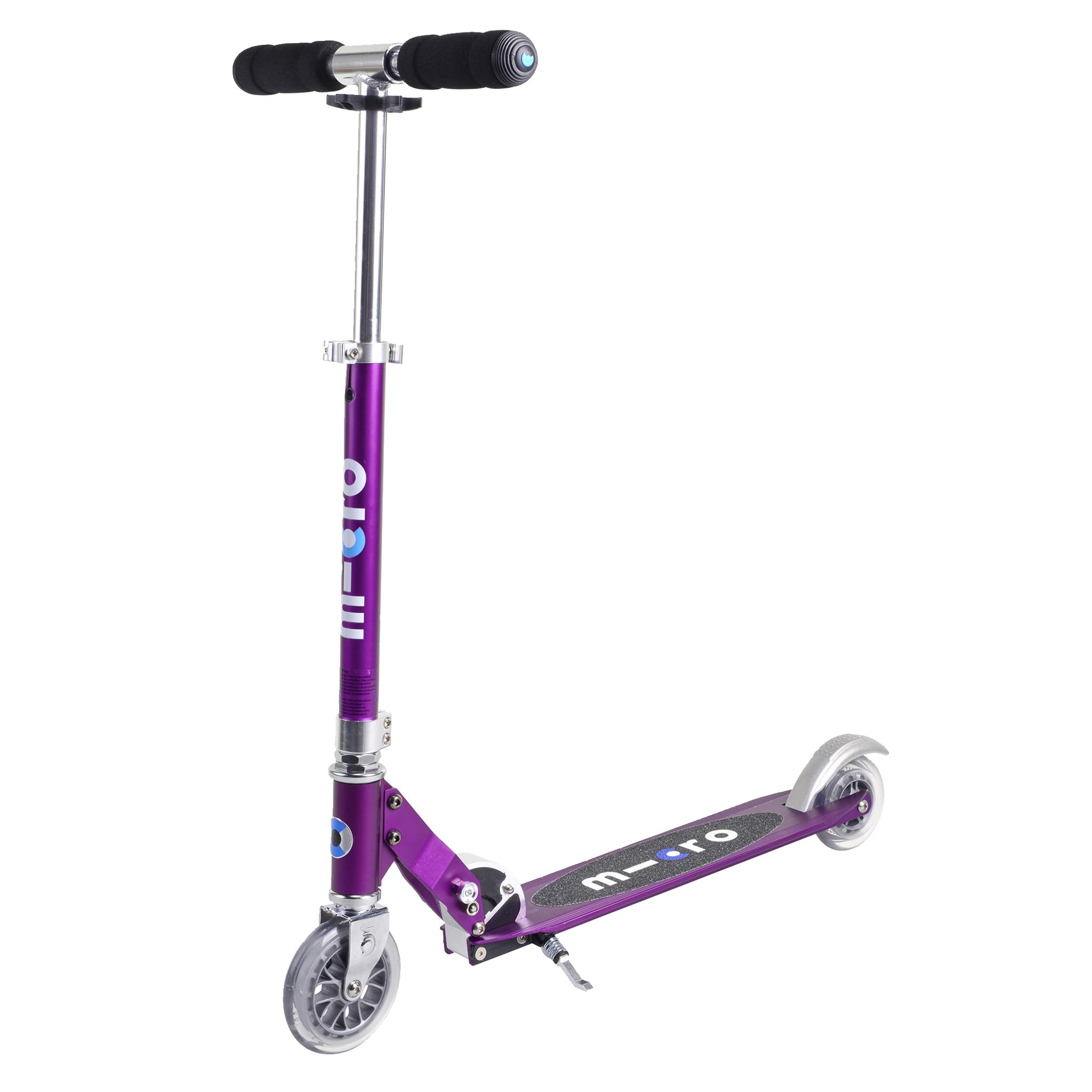 Micro Sprite purple scooter, sparkesykkel