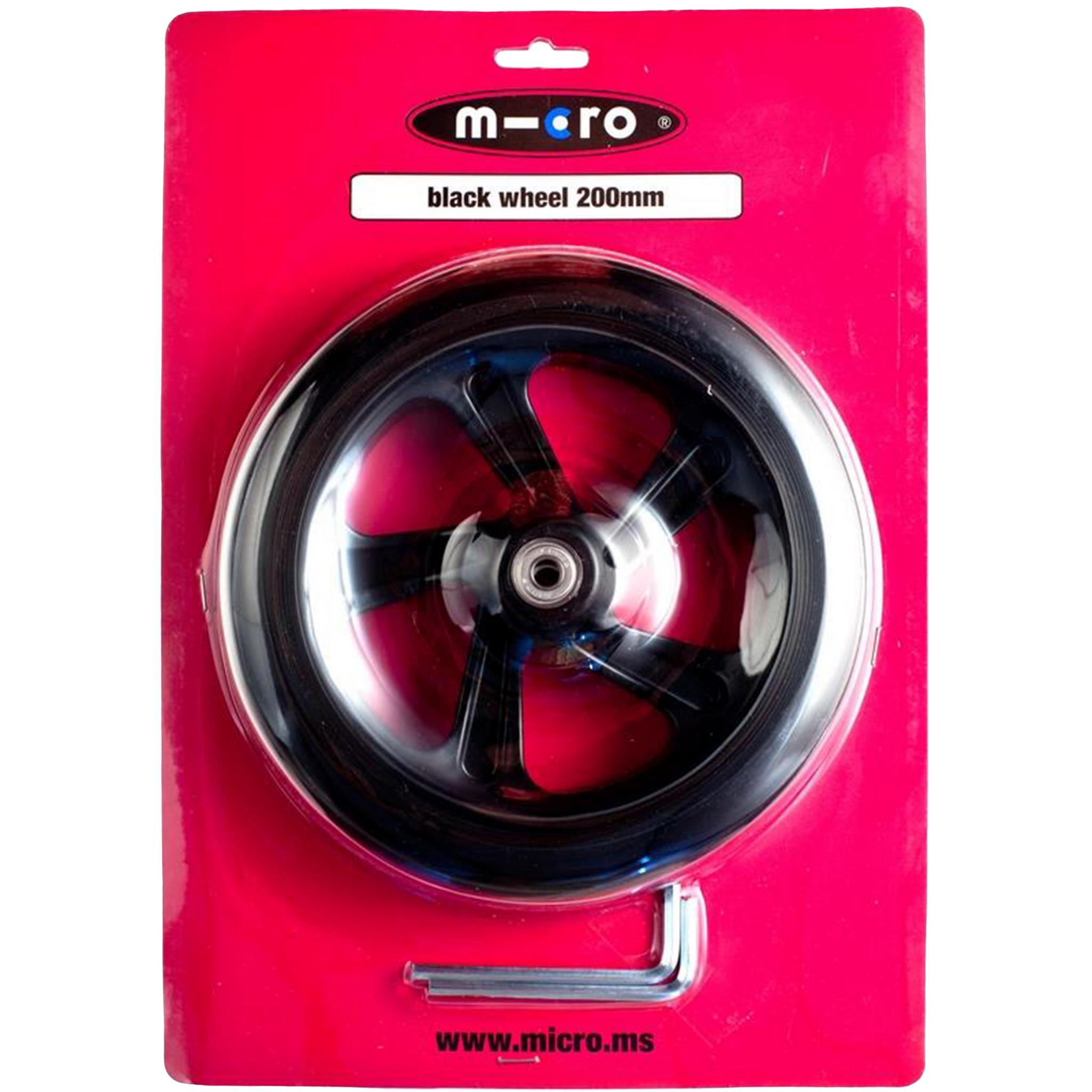 Micro wheel 145 mm (Black), hjul til sparkesykkel
