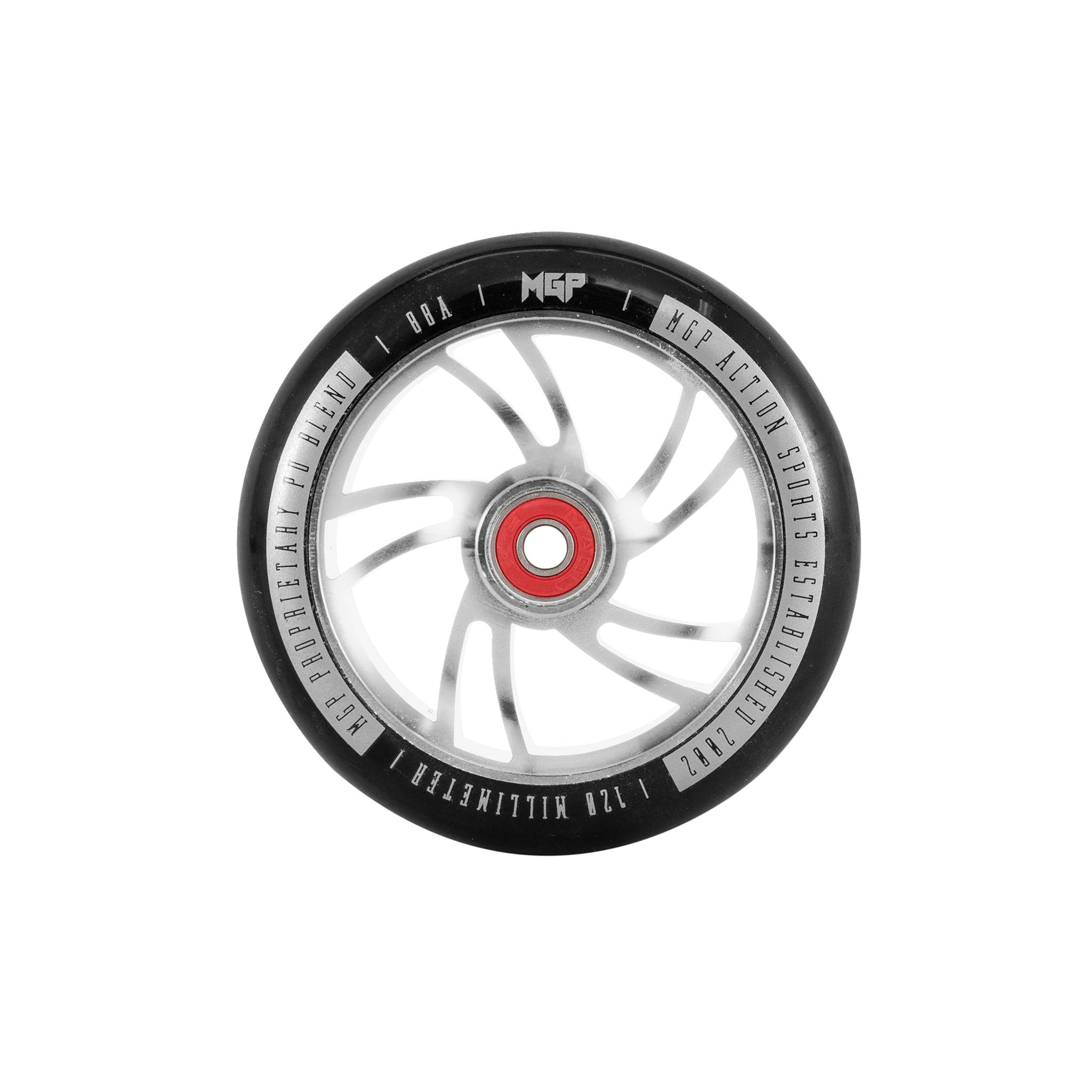 MGP Action Sports Shredder CNC wheels 120 mm, sparkesykkelhjulsett med hjullagre
