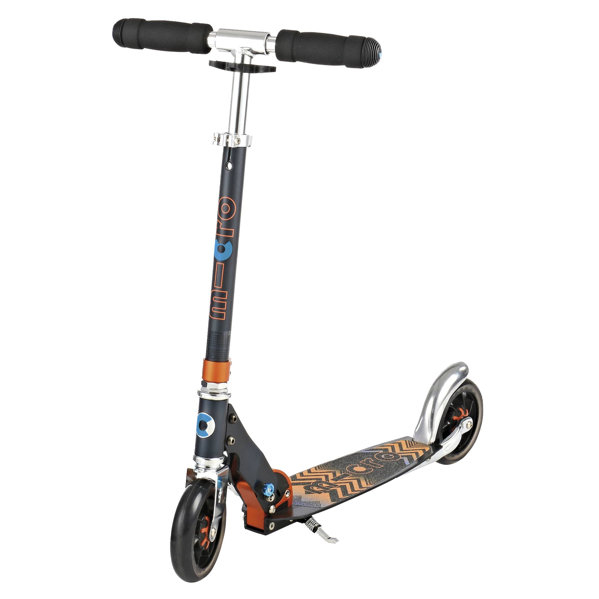 Micro Speed+ black/orange mobilityscooter, sparkesykkel