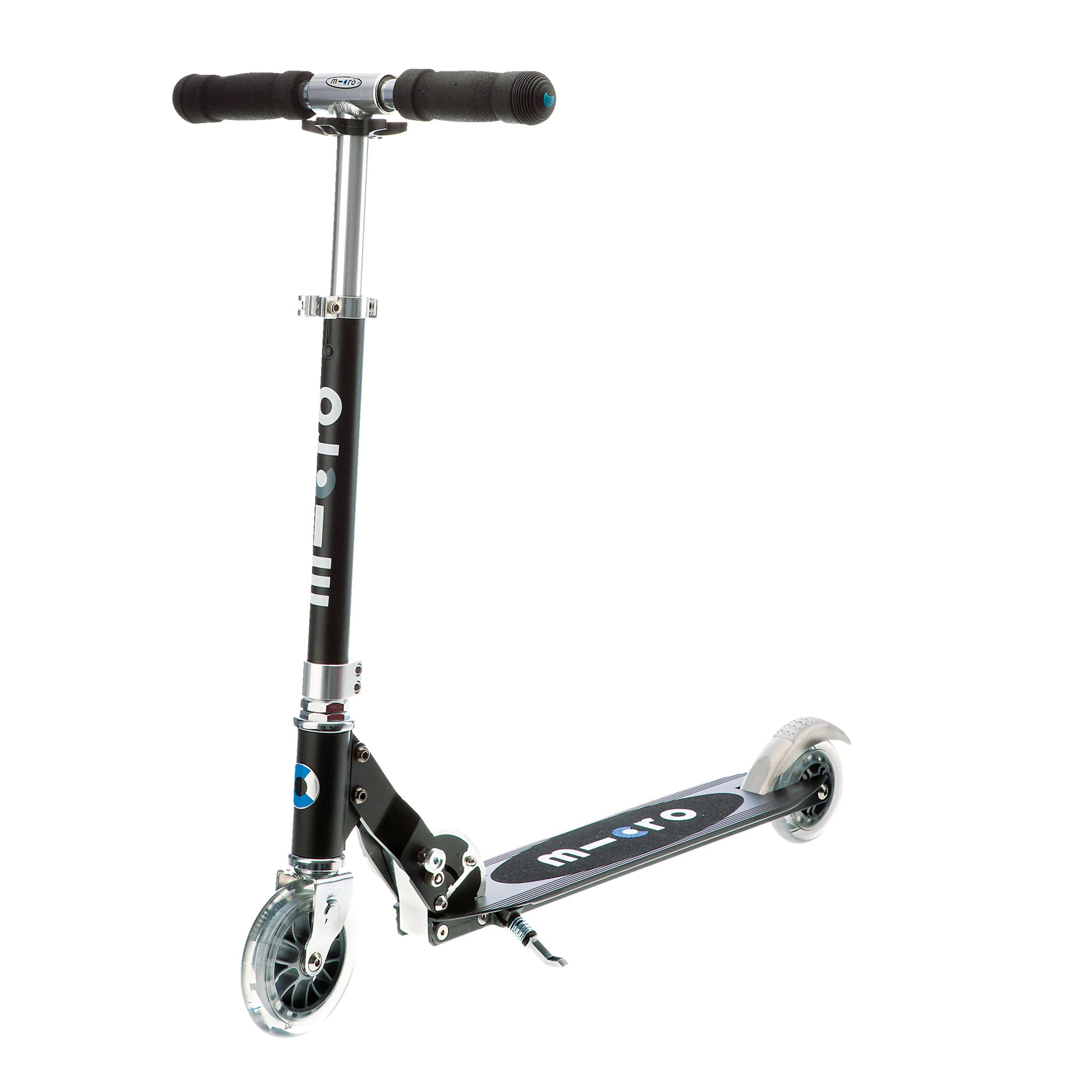 MicroSprite black scooter, sparkesykkel