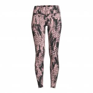 Casall Iconic Printed 7/8 Tights, treningstights dame 34 Survive Pink