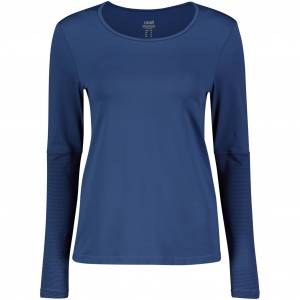 Casall Iconic Long Sleeve, treningsoverdel dame 38 Steady Blue