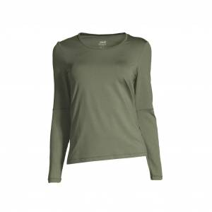 Casall Iconic Long Sleeve, treningsoverdel dame 34 Northern Green