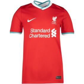 Nike Liverpool hjemmetrøye 20/21, fotballtrøye junior 140 Gym Red/white
