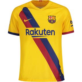 Nike FC Barcelona Breathe Stadium Jersey Away 19/20, fotballtrøye senior XL VARSITY MAIZE/(VARSI