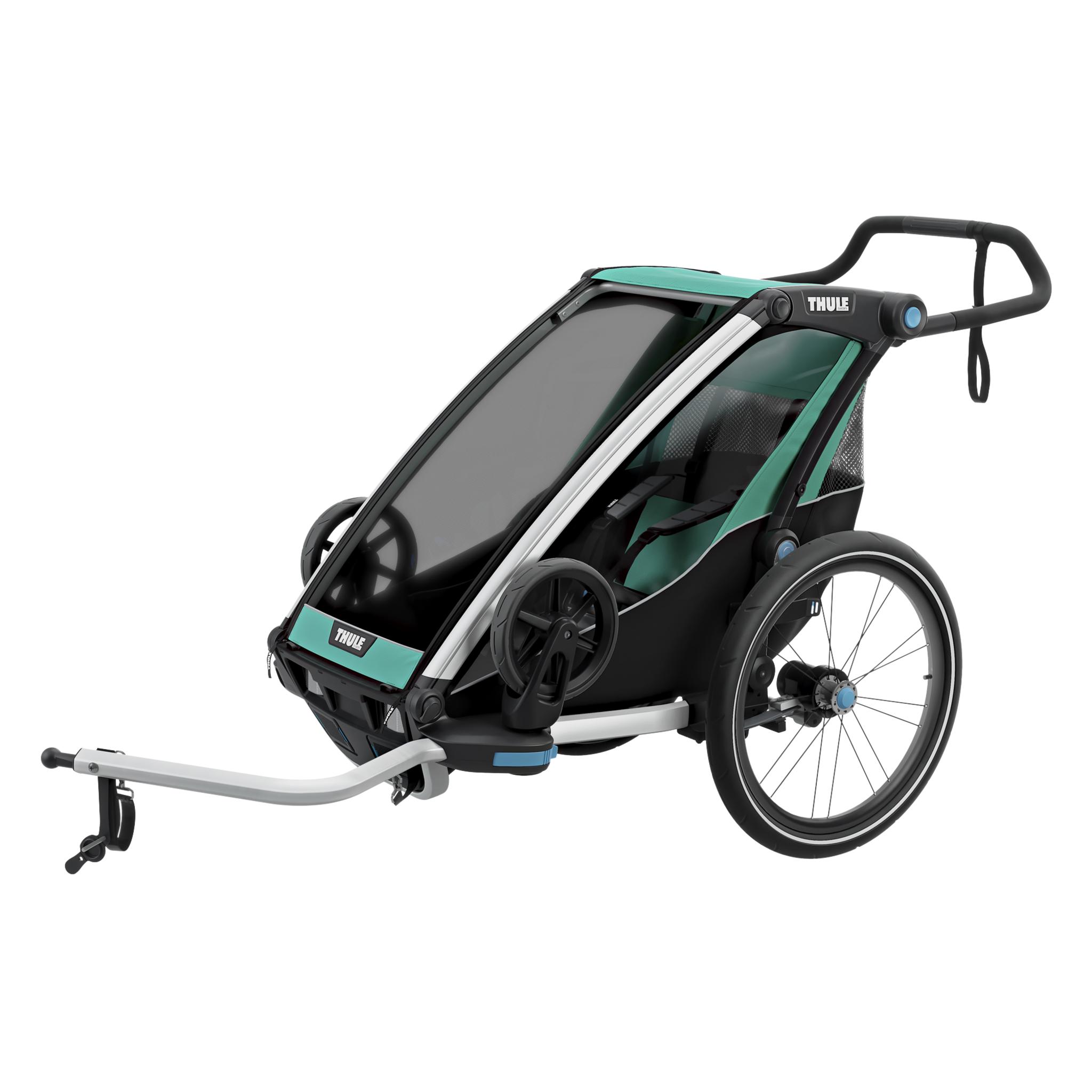 Lite 1 w/strollerkit, sykkelvogn med trillevognsett STD