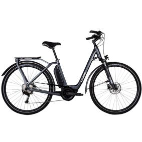 Cube Town Sport Hybrid ONE A+400 21, elsykkel, unisex Easy Entry 50 cm / S Iridium/Grey