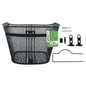 Cavo Basket with fixed stay 26-28″, sykkelkurv med støttestag Onesize BLACK