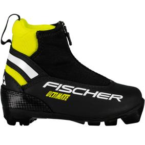 Fischer Ultimate JR 18/19, klassiskstøvel, junior 28 Black/Yellow