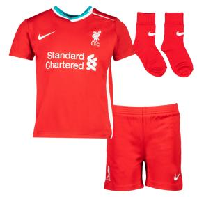 Nike Liverpool FC Baby Kit Home 20/21, draktsett baby 18-24 months (85-90 Gym Red/white