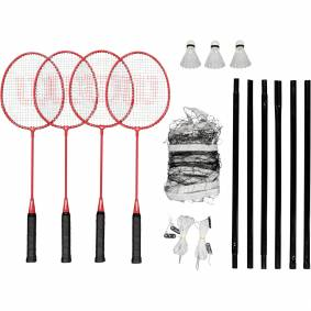 Wilson Tour Badminton Kit, badmintonsett STD RED