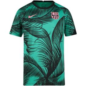 Nike FC Barcelona Dry Top Short sleeve, fotballtrøye junior 128 New Green/black/pink