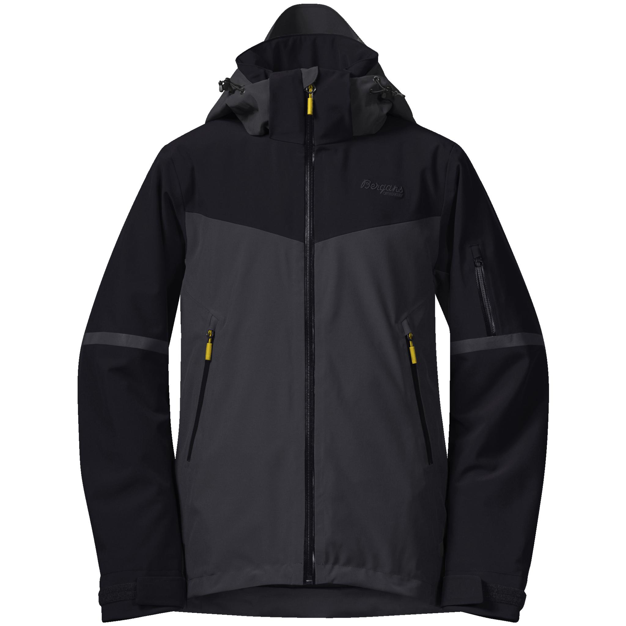 Bergans Oppdal Insulated Jacket, skijakke junior 128 Black/Solidcharcoal/