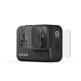 GoPro Tempered Glass Lens + Screen Protectors (Hero8 Black), beskyttelsesfolier STD BLACK