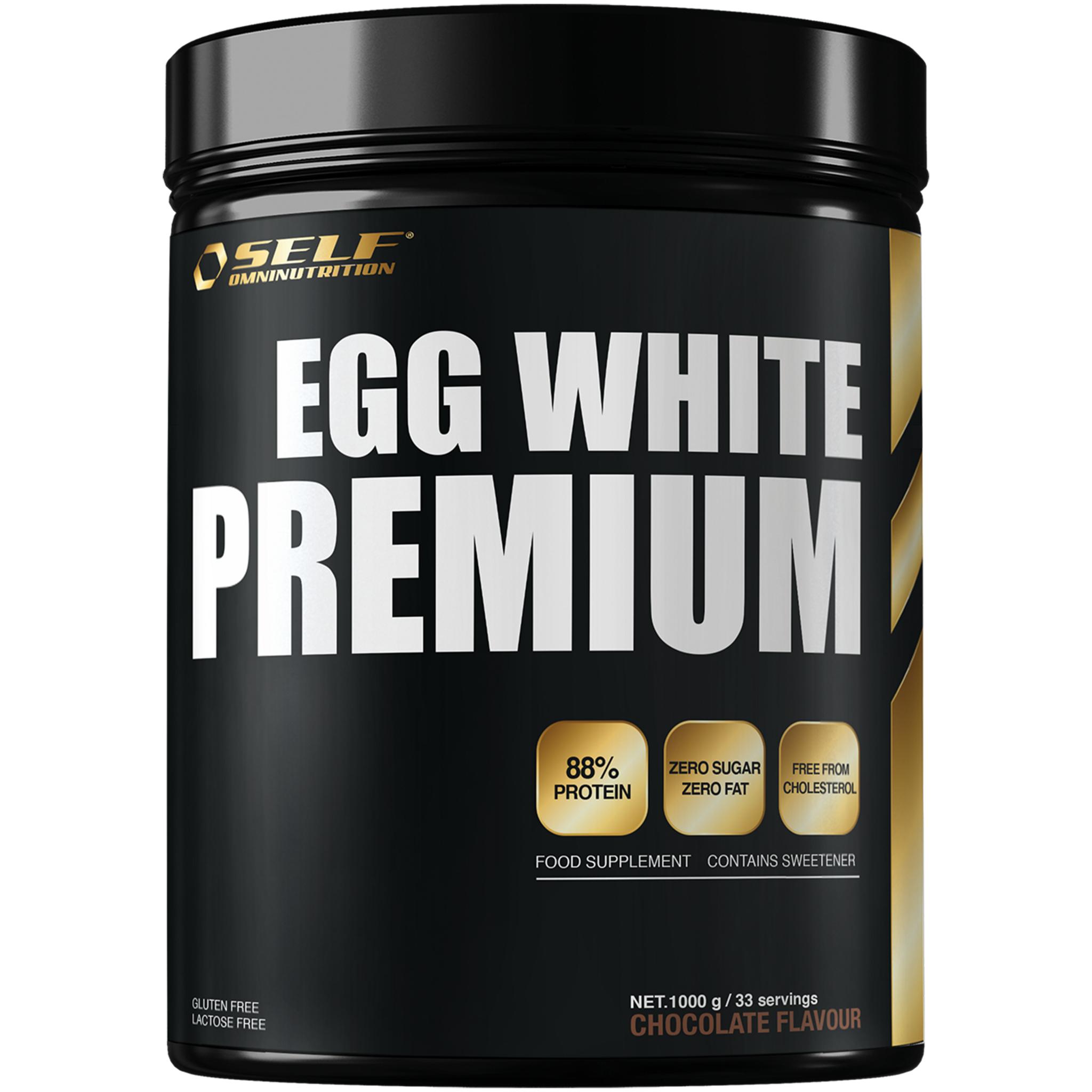 SELF Omninutrition Egg White Premium, proteintilskudd 1000g CHOCOLATE